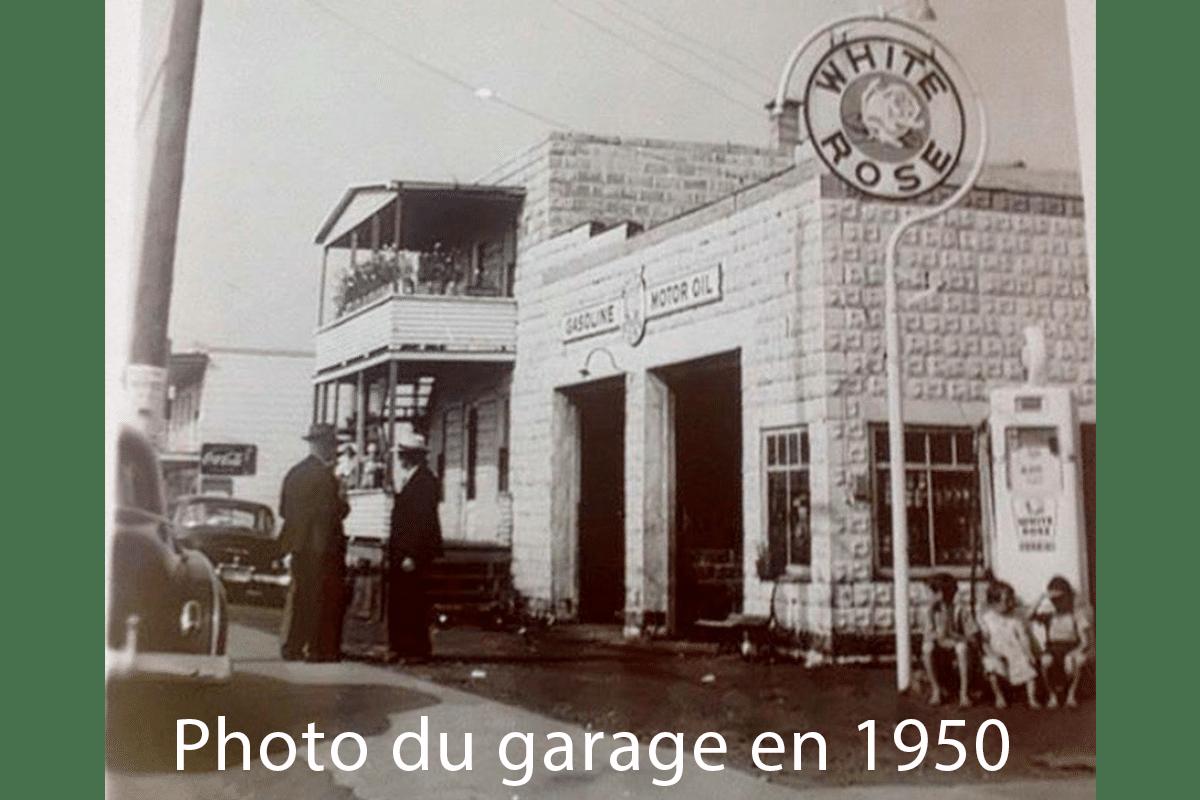 Garage Pascal Malenfant Drummondville en 1950